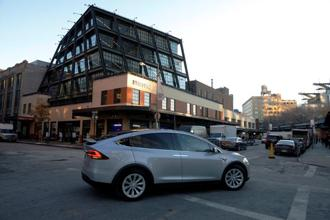 Tesla Motors' new showroom at Manhattan's Meatpacking District in New York City. Photo: Reuters