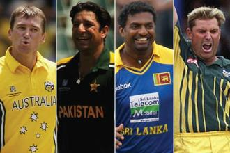 (From left) Glenn McGrath, Wasim Akram, Muttiah Muralitharan and Shane Warne.
