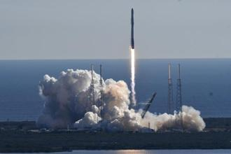 SpaceX landed the rocket's first stage on land for reuse in a future launch. Photo: AP