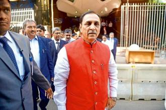Gujarat chief minister Vijay Rupani . Photo: Abhijit Bhatlekar/Mint