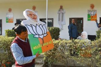 The fact that the BJP has got a bloody nose in its own stronghold is an achievement for the Congress. Photo: PTI
