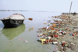 The Clean Ganga Mission is a flagship project of the Narendra Modi government. Photo: HT