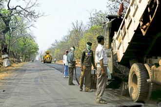 Sectors with substantial rural shares in net value added include road transport, at 47.9%.  Photo: Pradeep Gaur/Mint