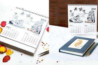 Created by Gulmeher, a collective of women waste-pickers from the Ghazipur slum in Delhi, the Amazing India calendar is perfect for anyone who enjoys quizzes or wants to know India better.