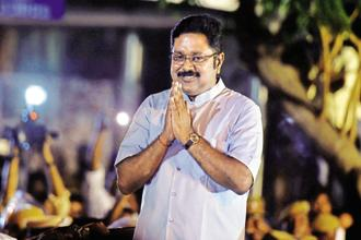 While T.T.V. Dhinakaran's faction claims that the 'real AIADMK cadres' are on its side as reflected in the RK Nagar bypoll results, observers said that the results have proved that the 'two leaves' election symbol is not something that is invincible. Photo: PTI