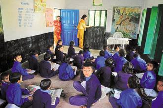Behaviour change with respect to toilets and cleanliness in general has to start in the schools of India. Photo: Pradeep Gaur/Mint