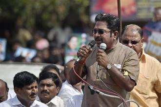 T.T.V. Dhinakaran won the RK Nagar bypoll to the prestigious seat by a whopping margin of over 40,000 votes. Photo: PTI