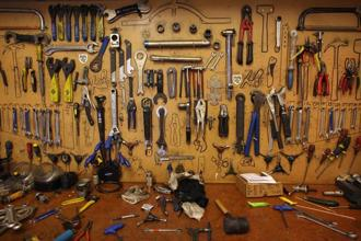 Tools at a workshop in London. Photo: Getty Images
