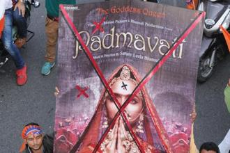 Sanjay Leela Bhansali, who appeared before a parliamentary panel, had said his lavishly-mounted Rs150 crore period drama, featuring Deepika Padukone, Shahid Kapoor and Ranveer Singh, is based on the 16th century epic poem Padmavat by Malik Muhammad Jayasi. Photo: HT