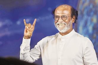 TThe time for change is here, Tamil actor Rajinikanth said in Chennai on Sunday. Photo: PTI