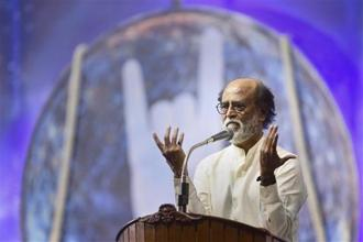 On Sunday, Rajinikanth announced his entry into politics, adding to the political intrigue and churn in Tamil Nadu triggered by the death of AIADMK leader J. Jayalalithaa in December 2016. Photo: PTI
