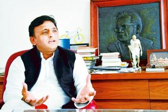 Samajwadi Party (SP) national president and former Uttar Pradesh chief minister Akhilesh Yadav. Photo: Remanshu Singh/Mint