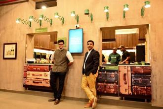 Chaayos founders Raghav Verma (left) and Nitin Saluja. Photographs: Priyanka Parashar/Mint