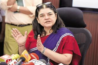 A file photo of Women and Child Development minister Maneka Gandhi. Photo: Hindustan Times
