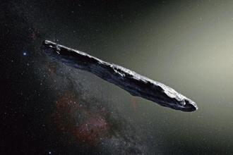 An artist's impression of the interstellar asteroid 'Oumuamua. AFP/European Southern Observatory