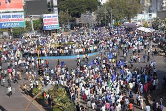The bandh was called on Wednesday following violence in Pune district on 1 January when Dalit groups were celebrating the bicentenary of the Bhima-Koregaon battle. Photo: PTI