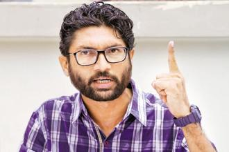 Dalit leader Jignesh Mevani (in photo) and JNU student leader Umar Khalid were accused of making inflammatory speech in Pune. Photo: Siddharaj Solanki / HT
