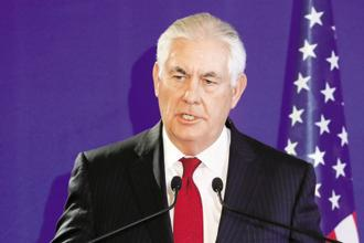 A file photo of US secretary of state Rex Tillerson. Photo: AFP