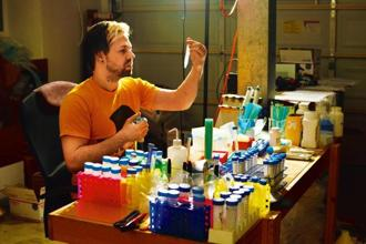 Josiah Zayner in his home-made lab. Courtesy The ODIN