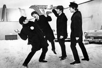 The Beatles outside the Washington Coliseum on a winter morning in 1964. Photo: Getty Images