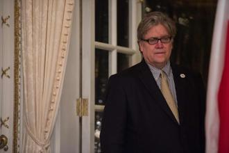 Former White House chief strategist Stephen Bannon said in the statement that his support for the president and for Donald Trump's agenda is unwavering. Photo: AFP