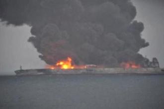 Concerns were growing that the Iranian tanker, which hit a cargo ship on Saturday in East China Sea, may explode and sink. Photo: Reuters