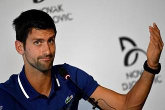 Novak Djokovic has been sidelined since Wimbledon in July, with a Tie Break Tens exhibition event on Wednesday and the Kooyong Classic, where he is drawn to play world number five Dominic Thiem, his only chance to test his right elbow injury. Photo: Reuters