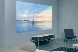 With Sony's LSPX- A1, users can watch 4K (4,096x 2,160p) videos from Amazon or Netflix on a 120-inch screen with brightness of 2500 Lumens.