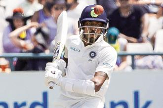 Hardik Pandya was the top scorer for India in the first innings. Photo: AP
