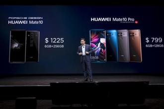 Huawei is the top-selling smartphone company in China and the third biggest in the world. Above, Richard Yu, CEO of Huawei Technologies Co., during the company's keynote event at the 2018 Consumer Electronics Show in Las Vegas on Tuesday. Photo: Bloomberg