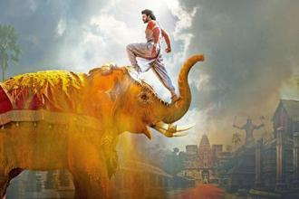 A still from Tamil-Telugu bilingual  'Baahubali 2: The Conclusion' featuring actor Prabhas.