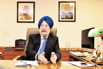 Urban development minister Hardeep Puri. Photo: Priyanka Parashar/Mint