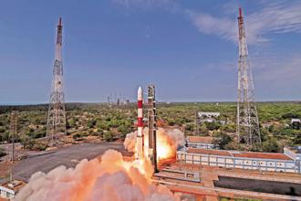 Representational image. The total weight of all the 31 satellites carried on-board PSLV-C40 is about 1,323kgs. Photo: PTI