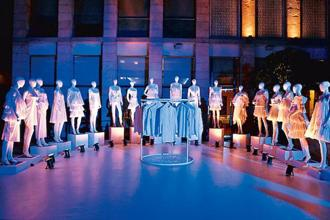 An installation celebrating Ashish Soni's 25 years in fashion.