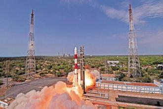 The total weight of all the 31 satellites carried on-board PSLV-C40 is about 1,323kgs. Photo: PTI