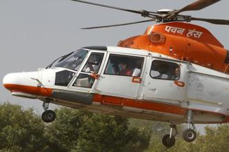 A representational image. ONGC, Coast Guard and Navy pressed helicopters and speed boats as soon as the information of the chopper going missing was received at the Juhu helibase. Photo: Reuters