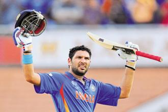 A file photo of Yuvraj Singh. The auction is scheduled to take place in Bengaluru on 27 and 28 January said BCCI. Photo: Reuters