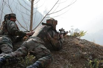 Representational image. An official said four JeM militants were killed at Dulanja in Uri sector in a joint operation by the army, police and other security forces. Photo: AFP