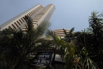 Earlier in the day, Sensex had risen as much as 1.07% or 371.30 points to a record high of 34,963.69 points, while Nifty climbed as much as 0.95% or 101.40 points to a record of 10,782.65 points. Photo: Hemant Mishra/Mint