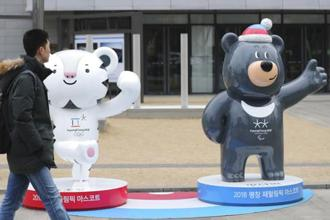 Mascots of the 2018 Pyeongchang Winter Games. North Korea's participation in the Winter Olympics starting 9 February brings potential benefits to the troubled Korean peninsula, which has been divided for about 70 years. Photo: AP