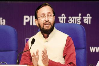 HRD minister Prakash Javadekar. Universities accredited by the National Assessment and Accreditation Council (NAAC) and rated A+ will be allowed to offer online education courses. Photo: Ramesh Pathania/Mint