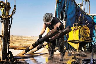Higher oil prices are allowing US shale producers to hedge and lock in drilling programmes. Photo: Bloomberg