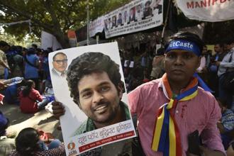 Rohith Vemula, a dalit research scholar, had committed suicide on 17 January 2016 alleging caste discrimination. File photo: HT