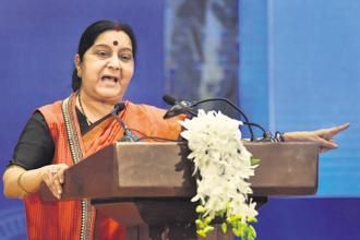Foreign minister Sushma Swaraj described terrorism as 'the mother of all disruptions today.' Photo: PTI