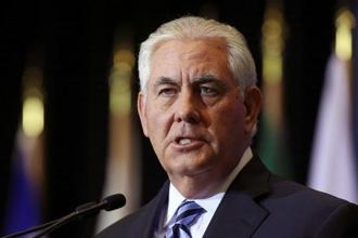 US secretary of state Rex Tillerson speaks at a news conference during the Foreign Ministers' Meeting on Security and Stability on the Korean Peninsula in Vancouver on Tuesday. Photo: Reuters