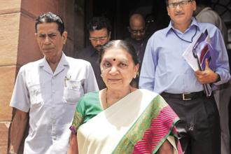 Anandiben Patel, former chief minister of Gujarat and now governor of Madhya Pradesh. Photo: HT