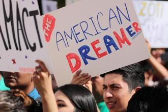 Donald Trump in September rescinded, effective in March, the Deferred Action for Childhood Arrivals, or DACA, program put in place in 2012 by Barack Obama. Photo: Reuters