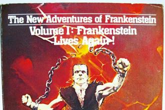 The cover of Donald F. Glut's 'The New Adventures Of Frankenstein'.