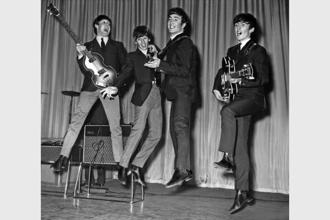 The Beatles (from left) Paul McCartney, Ringo Starr, John Lennon and George Harrison in 1963. Photo: Alamy