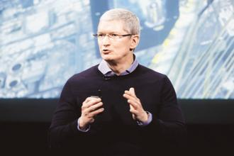Tim Cook said the phone-slowing software, released last year, was intended to make sure that iPhone users did not get cut off in the middle of an important call or text message because of an old battery. Photo: Reuters